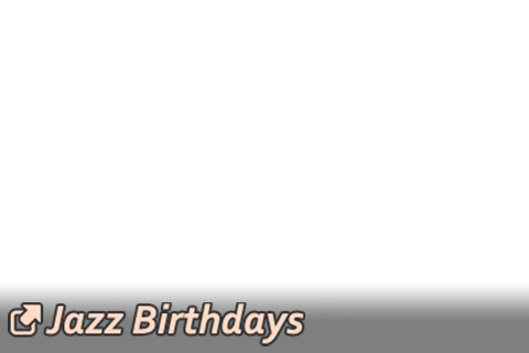 Link button overlay image to Jazz Birthdays topic